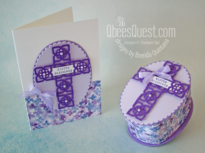 Stampin' Up Elegant Easter Cross Box & Card