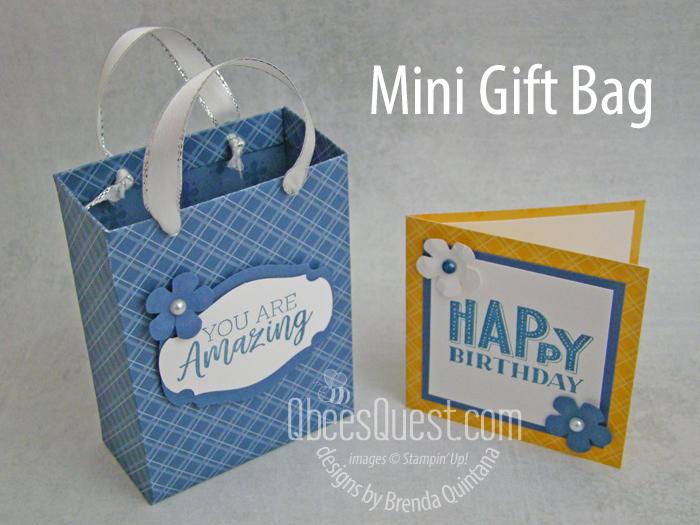 Stampin' Up Mini Gift Bag
