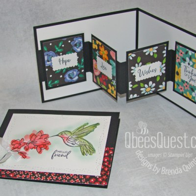 Stampin' Up Touch of Ink W-fold Card