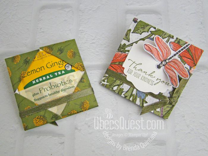 Stampin' Up Diagonal Fold Tea Bag Holder