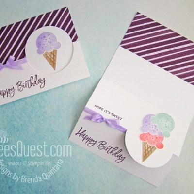 Stampin' Up Sweet Ice Cream Flip Card