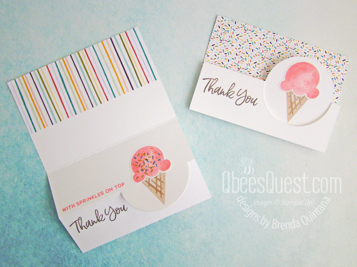 Stampin' Up Sweet Ice Cream Flip Note Card