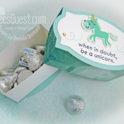 Stampin' Up Unicorn Gift Box