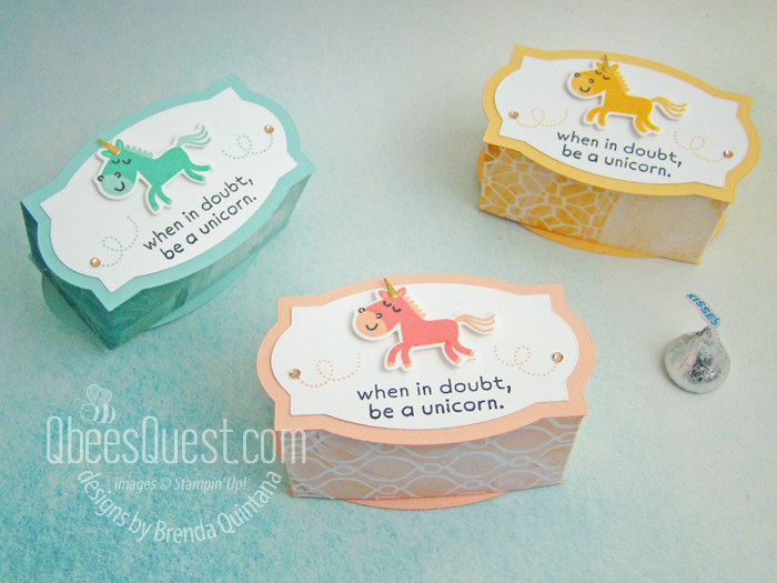 Stampin' Up Unicorn Gift Boxes