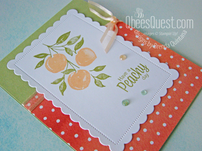 Stampin Up Sweet as a Peach Card