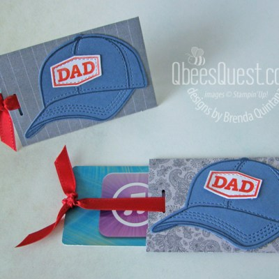 Stampin' Up Hats Off Gift Card Holder