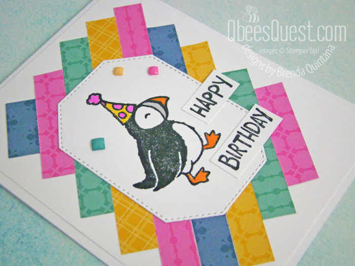 Stampin' Up Party Puffins Birthday Card
