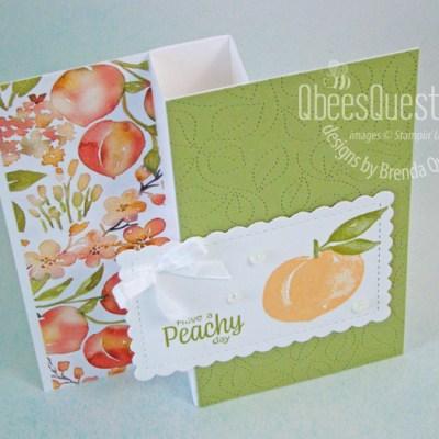Stampin' Up Sweet as a Peach Half Pinwheel Card