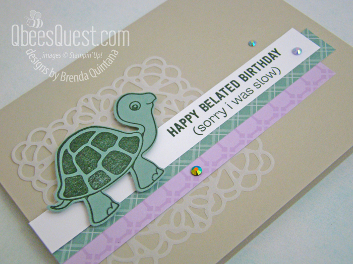 Stampin' Up Turtle Friends Birthday Card
