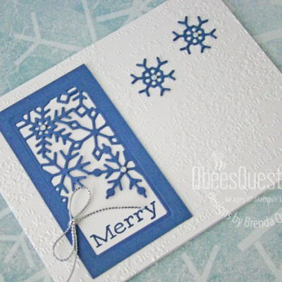 Stampin' Up Merry Snowflakes Card