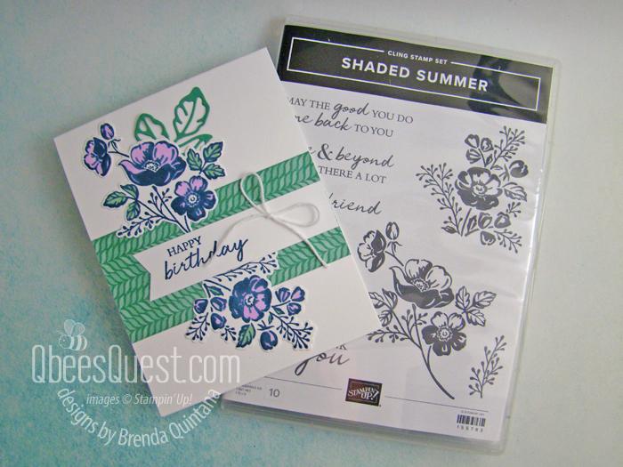 Stampin' Up Shaded Summer Card