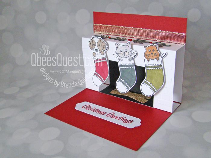 Fireplace Pop Up Christmas Card