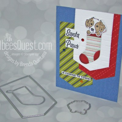 Stampin' Up Sweet Little Stockings Card