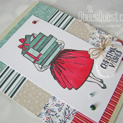 Stampin' up Delivering Cheer Card