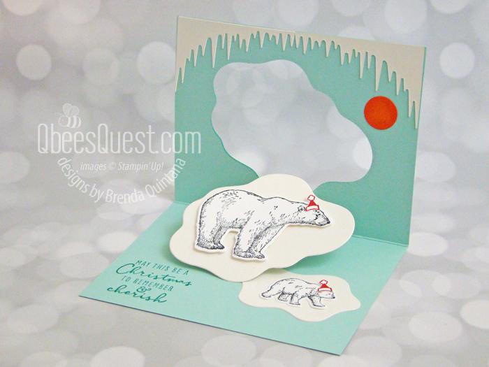 Stampin' Up Arctic Bears Pop Up Christmas Card