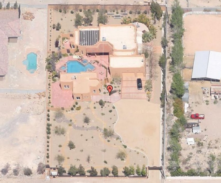 House, casita and pool on 1+ acre.