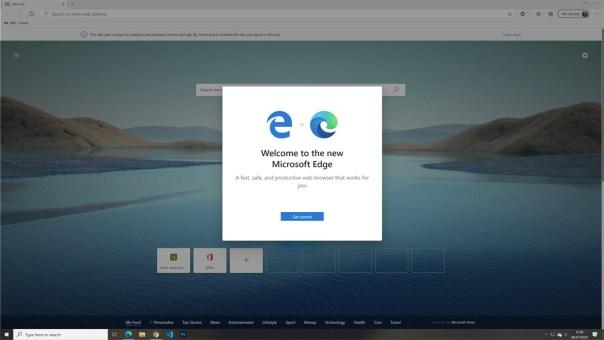 Edge Update Screen
