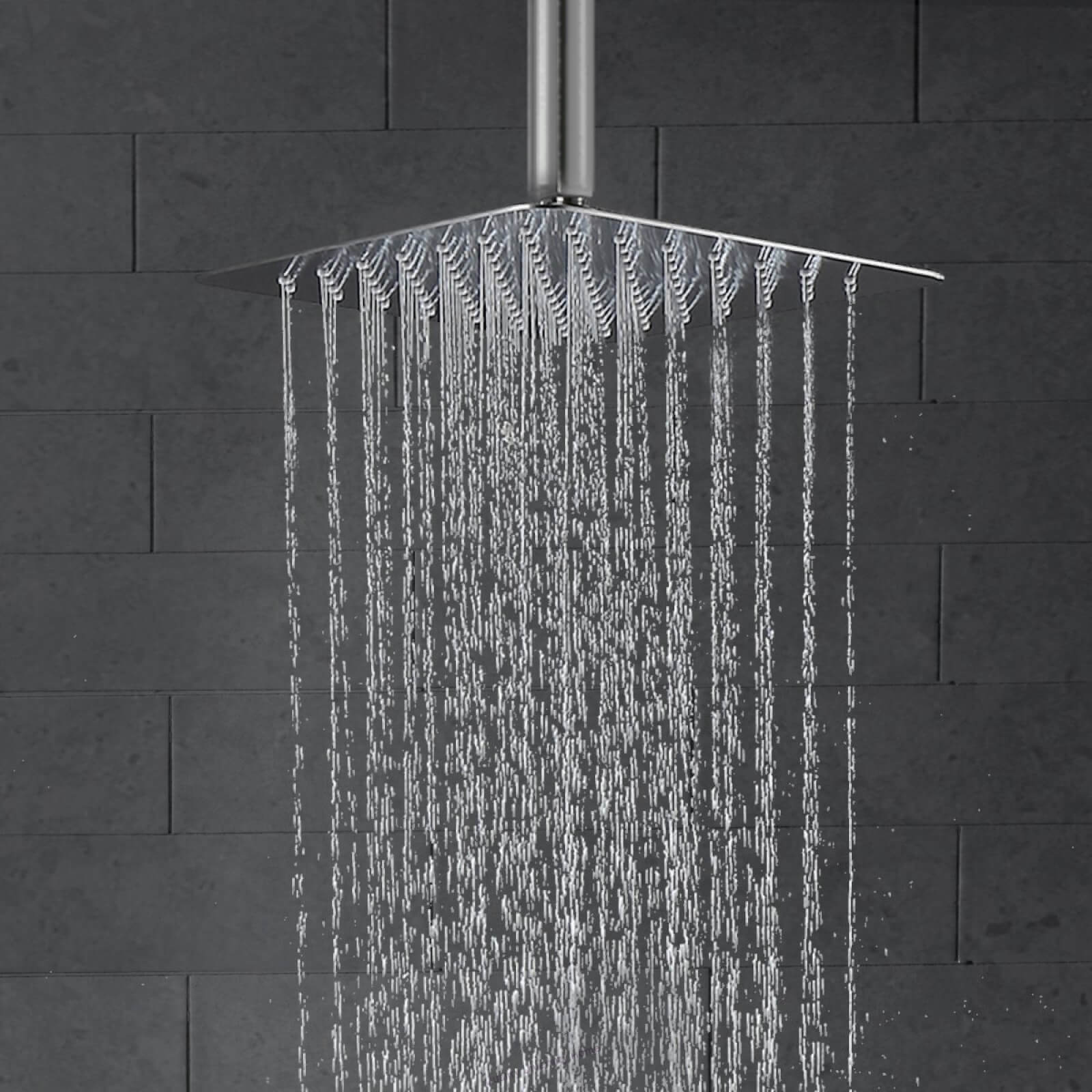 Ceiling Shower System Brushed Nickel With High Pressure