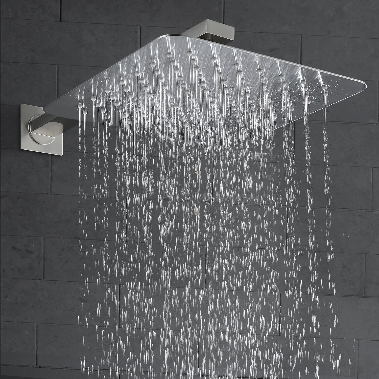 Luxury Rain Shower System Wall Mounted Shower Combo Set With