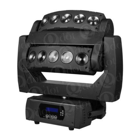 10pcs 10W moving head beam effect light with infinite PAN/TILT movement