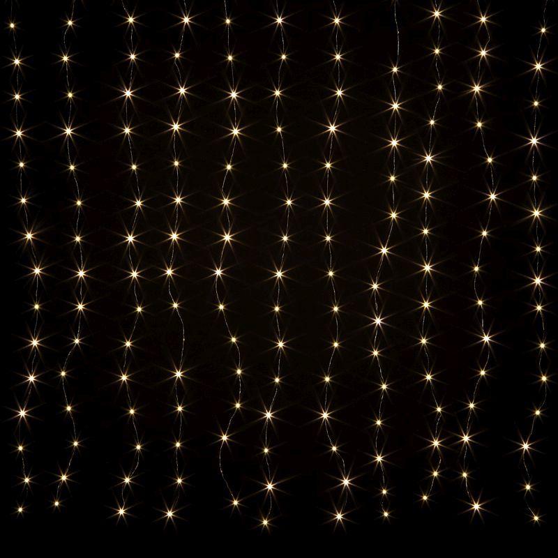 198 led warm white animated curtain light mains 150 x 180cm