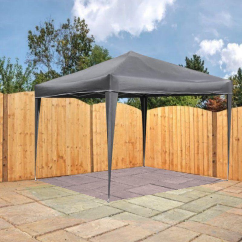 bentley 3m x 3m pop up garden patio canopy gazebo grey