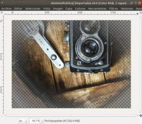 difuminar bordes con GIMP