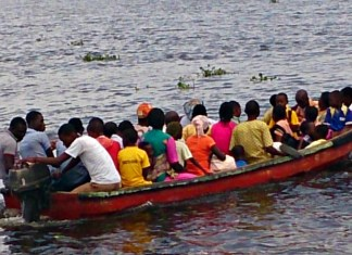 Lagos Water transportation ferry boat