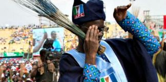 Fashola dancing Shoki at APC rally