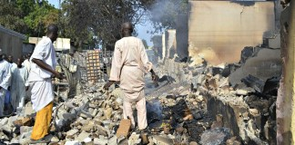 Scene of an attack by Boko Haram
