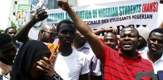 NANS protest xenophobic attacks in South Africa at DStv office Abuja
