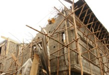 Collapsed building in NICON Town Estate, Lekki