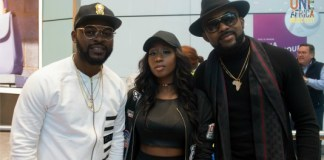 Falz Victoria Kimani & Banky W arrive London for One Africa Music Fest