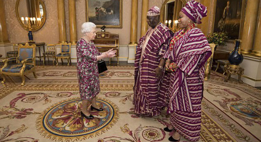 Queen Elizabeth welcomes Justice George Oguntade