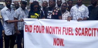 Charlyboy leads fuel scarcity protest to NNPC