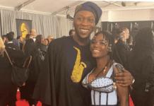Seun Kuti and girlfriend Yetunde Ademiluyi