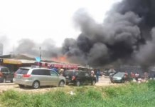 Gas explosion sparks fire in Surulere