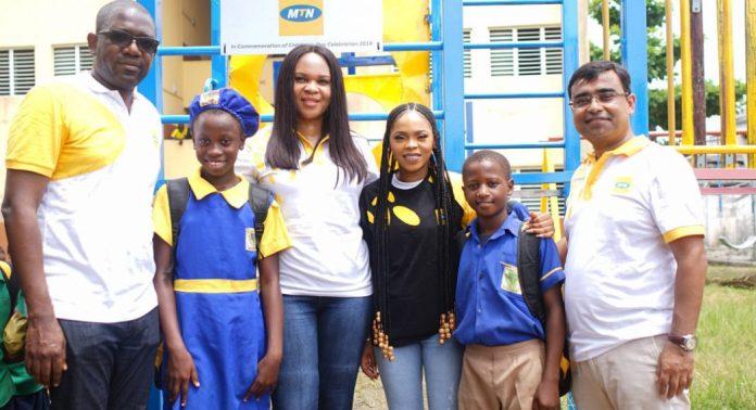 MTN donates refurbished playgrounds to mark children's day