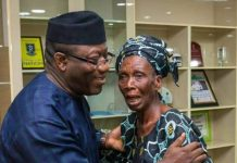 Kayode Fayemi and widow