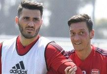 Sead Kolasinac and Mesut Ozil