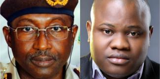 Nigerian Immigration Service Muhammad Babandede and Omoshola Deji
