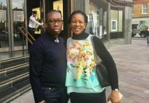 Ifeanyi Okowa and wife, Edith, in Dubai