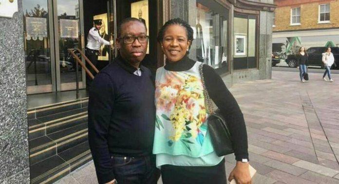 Ifeanyi Okowa and wife, Edith, in Dubai