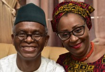 Nasir El-Rufai and wife Hadiza