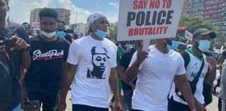 Falz and Runtown END SARS protest