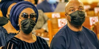 Bukola Saraki and Toyin Saraki at Dapo Ojora funeral