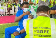 Dr. Ngong Cyprian receives COVID-19 vaccine in Abuja