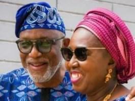 Rotimi Akeredolu and wife Betty