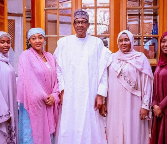 Muhammadu Buhari, Aisha Buhari and family