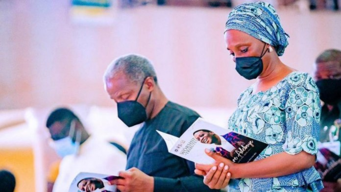 Yemi Osinbajo and Dolapo Osinbajo at Dare Adeboye service of songs